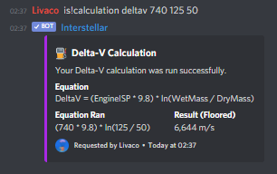 Calculating the Delta-V of a vehicle