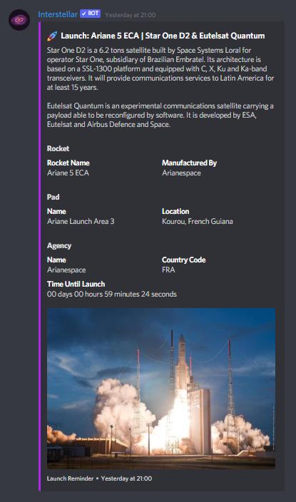 Interstellar making a Rocket Launch Announcement