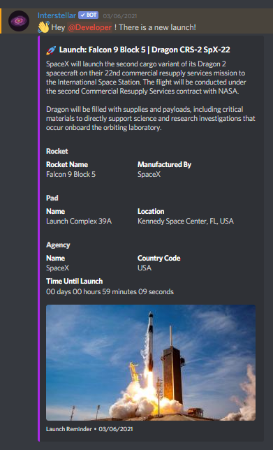 A Launch Reminder