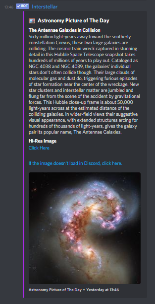 Interstellar's APOD Posts